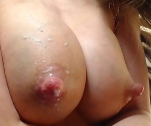 Teen milking big tits for..