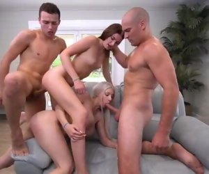 two couples have sex game..