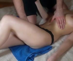 Teen Oil Massage with Cum..