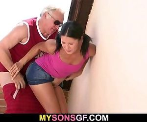 GF lets her BF\'s dad poke..